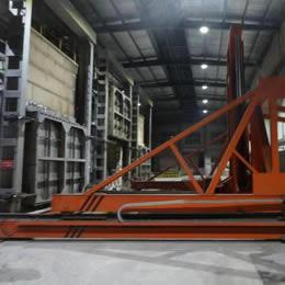 室式蓄热高锰钢淬火炉配取料机